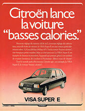 PUBLICITE ADVERTISING 104  1980  CITROEN VISA SUPER E