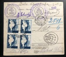 1942 Gradiska Croatia Germany State Parcel Receipt Cover To Sarajevo