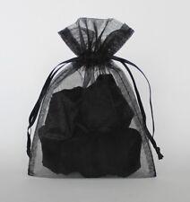 lot 10 Sheer Black Organza Large Gift Bags 10x12 Bath Body Holiday Graduations