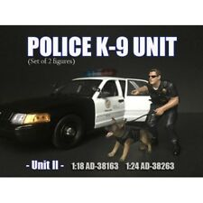 Police Officer with K9 - 11   1:18 Scale by American Diorama AD-38163a