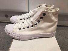 BN Converse All Star Hi Off White Mono Canvas Trainers UK 7!