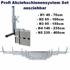 5 verschiedene Profi Abziehschienen, Abziehlehre verstellbar 45cm bis 400cm-