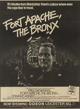 "23/1/82PN20 Advert: Paul Newman In 'fort Apache, The Bronx' 9""x7"""
