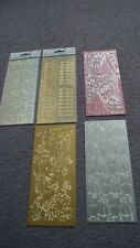 Peel Offs for Card Making...5 single sheets