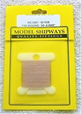 Model Shipways Fittings MS 2587 Polyester Tan Rigging 3/0 12MM. 50 YDS Per Pack