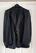 Mens Black Wool Blazer/Jacket, 42 inch chest, 4 pockets, lined, 2 buttons