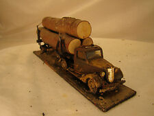 O scale / On30 scale Logging Truck - custom weathered after historic pictures