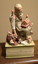 Norman Rockwell Santa's Helpers musical figurine 1979 vintage collectible