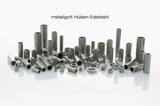 metallgo® Edelstahl V2A Hülsen | Distanzhülsen Abstandshülsen Metallhülsen