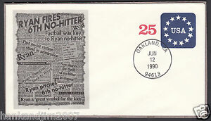 Nolan Ryan 6th No Hitter 1990 USPS Commemorative Envelope