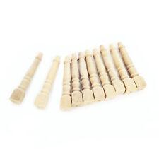 10Pcs Miniature Stand Column Wooden Handrail Pillars Dollhouse Accessories