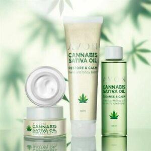 Avon Cannabis Sativa Oil Skincare Collection