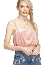 Miss Selfridge - Pink Velvet Bandeau Crop Top - Size 14 - BNWT