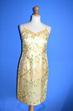 LADIES DESIGNER KALIKO EXQUISITE SHIMMERING EMBROIDED FLORAL PARTY DRESS 10 VGC