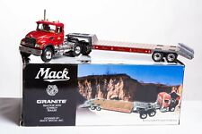 Mack Granite Truck with Lowboy Trailer Diecast Model by First Gear 19-3298