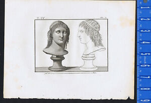 Berenice I of Egypt - Piroli 1805 Copper Engraving