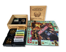 Monopoly Indiana Jones Collector Edition Wood Crate Parker Bros - Incomplete