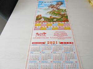 Chinesischer Kalender,Wandkalender Kalender 2021,Chinesische Mauer/GreifvogelNeu