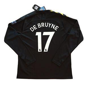 2019/20 Manchester City Away Jersey #17 De Bruyne XL Nike Long Sleeve EPL NEW