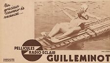 Y7076 Pellicules Radio Eclair GUILLEMINOT - Pubblicità d'epoca - 1934 Old advert