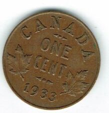 1933 Canadian Circulated George V One  Small Cent coin!