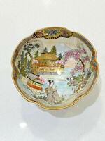 "Antique Noritake Nippon Hand Painted Mini Footed Nut Bowl Salt Dish 1 1/2"" x 3"""