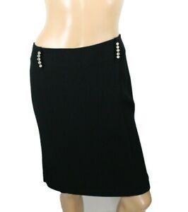 Montana Blu Womens Skirt Black skirt Stretch Size 46 (US size 10)