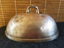 (3) Oval Food Dome Cover 8-3/4in x 5-7/8in French Country Chic Silver Patina