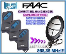 FAAC TM 868DS-1,2,3 kompatibel handsender, 868,3Mhz KLONE fernbedienung