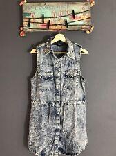 NWOT MISS SIXTY Long Vest Jacket Dress Jean Sleeveless Size Medium