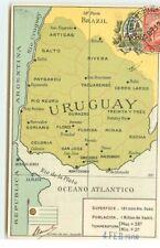 URUGUAY - Carte géographique - Cachet Llambias de Olivar Montevideo - 7560