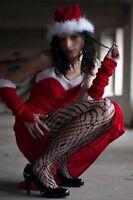 Weihnachtsmütze Nikolausmütze Rot Plüsch Mütze Santa Fellrand Soft Weich