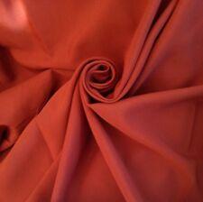 10 Metres Cotton Linen Panama Weave Curtain & Interior Fabric In Terracotta