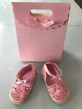Baby Sommer Schuhe Sandalen Rosa Spitze Geschenktüte Gr. 17 18 19