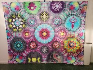 70x90 In Massive Psychedelic Tie Dye Handmade one of a kind masterpiece