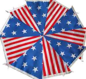 STARS AND STRIPES Fabric Bunting 30ft Bundles USA independence day 2018 July 4th