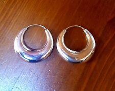PENDIENTES AROS PLATA de ley 925 de 3,2 cm (32 mm) de diámetro.+ Bolsa tela