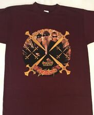 New! Zz Top Xxx 1999 Tour T - Shirt - Medium - Burgundy