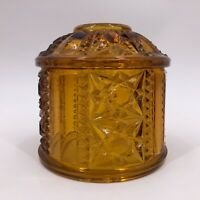 Amber Glass Fairy Lamp LID ONLY Cover Indiana Glass Vintage Replacement Piece