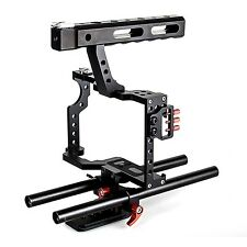 Commlite DSLR Rig Camera Video Cage & Top Handle Grip for A7 A7r A7s GH4