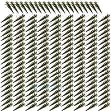 200pc 26mm Silver Spots Cone Screw Metal Studs Leather Craft Rivet Bullet Spikes