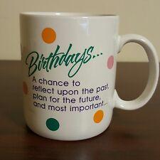 Hallmark Happy Birthday Reflection and Funny Party Message Coffee Mug