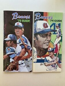 1973 &1974 Atlanta Brave Media Guides.1974 Hank Aaron's Home Run Record Season.