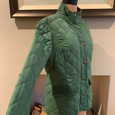 JOULES GREEN MOREDALE JACKET UK SIZE 14 QUILTED JACKET CORDUROY TRIM