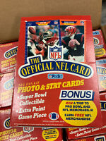 1989 PRO SET NFL FOOTBALL SERIES 1 HOBBY BOX 36 FACTORY SEALED PACKS RC HOF