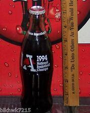 1994 ARKANSAS RAZORBACKS NATIONAL BASKETBALL CHAMPIONS 8 OZ COCA - COLA BOTTLE