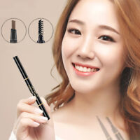 EG_ Double-end Eyebrow Pencil Eye Brow Brush Eyeliner Makeup Cosmetic Pen Tool U