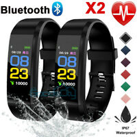 Rechargeable Smart Watch Fitness Waterproof Heart Rate Fitness Tracker Monitor