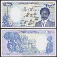 1000 FRANCS 1987 GABON [SUP / XF] p10a - République Gabonaise - Afrique Centrale
