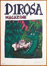 Sérigraphie originale de Hervé DIROSA signée numérotée de 1985 Portfolio Linard